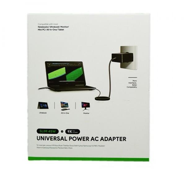 Univerzalni kućni punjač za prijenosno računalo MAX 45W Q46 (19V, 2.37A)