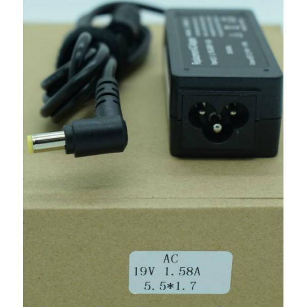 Kućni punjač za prijenosno računalo 5.5*1.7 (ZA ACER 19V/1.58A?EPC?/30W )