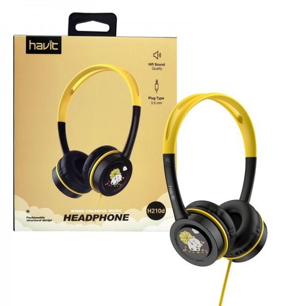 HAVIT SLUŠALICE AUDIO H210d crno-žute