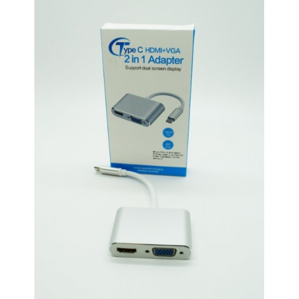 Adapter Type C na HDMI I VGA
