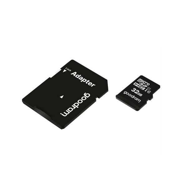 Memorijska kartica 32GB UHS-I CLASS 10 100MB/s  sa adapterom + čitač - Goodram MEMO-KART-ADAP-32GB-READER-GOOD Mobilab, servis i prodaja mobitela, tableta i računala