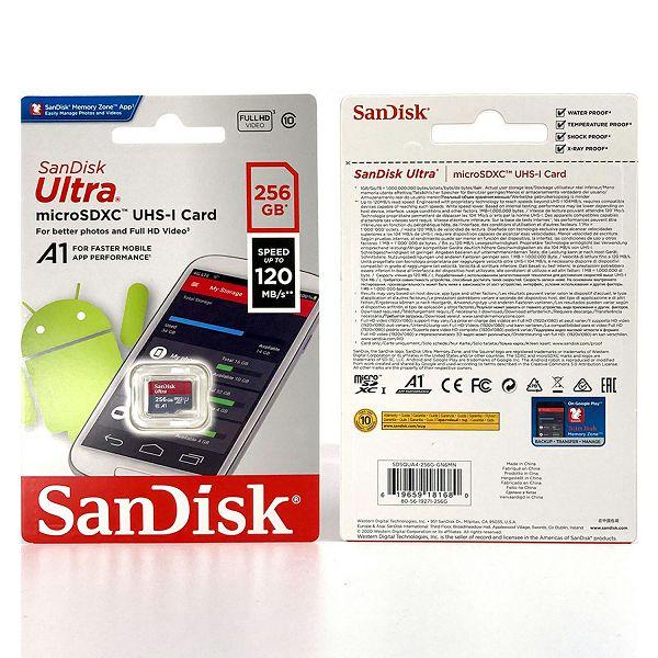 SANDISK MEMORIJSKA KARTICA MicroSDHC ULTRA 120MB/s 256GB