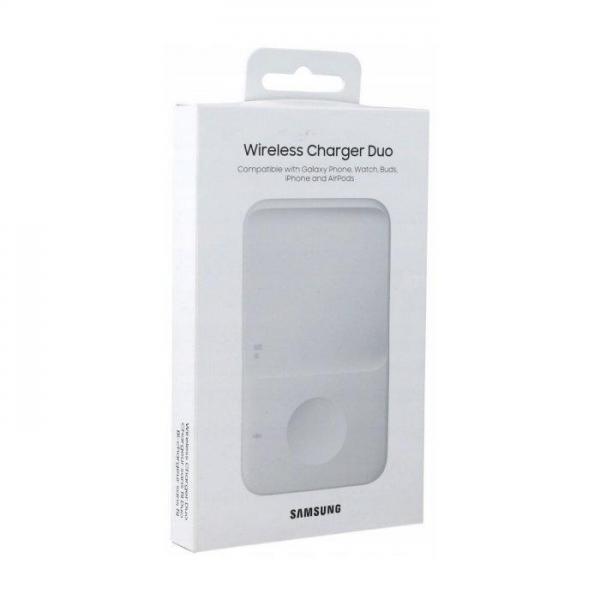 Bežični punjač Samsung Duo 30W za 2 mobitela ili sat EP-P4300TWEGEU - BIJELI