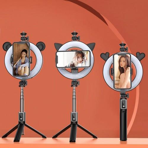 Selfie Držač za mobitel stativ + led lampa + daljinski upravljač - P40D-5