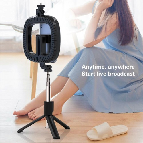 Selfie Držač za mobitel stativ + led lampa + daljinski upravljač - P40D-2