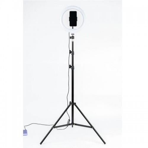 Selfie Držač za mobitel stativ 2,1m + lampa 26cm