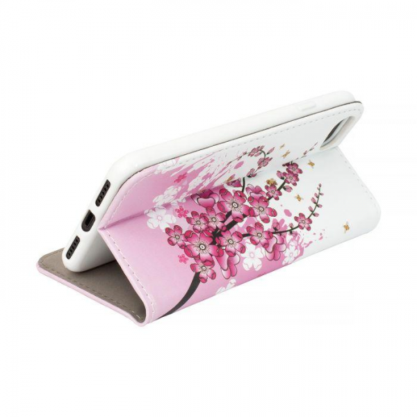 Torbica preklopna Phone X/XS pink flowers - Decor book