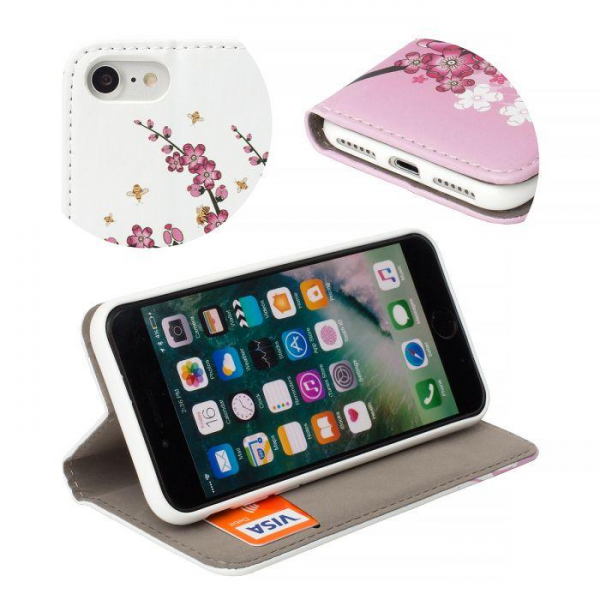 Torbica preklopna za SAMSUNG GALAXY S8 Plus pink flowers - Decor book TP-DB-SAM-G955-pf Mobilab, servis i prodaja mobitela, tableta i računala