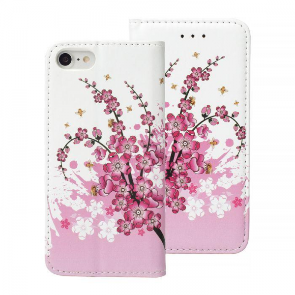 Torbica preklopna XIAOMI REDMI NOTE 4/ NOTE 4X pink flowers - Decor book