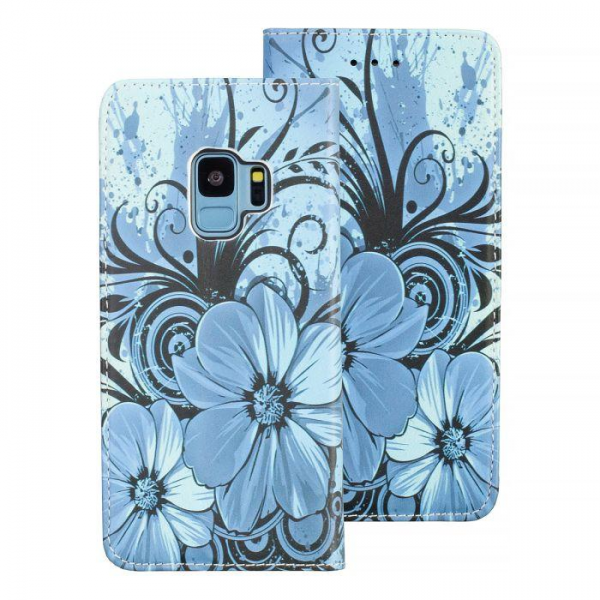 Torbica preklopna SAMSUNG S9 blue - Decor book