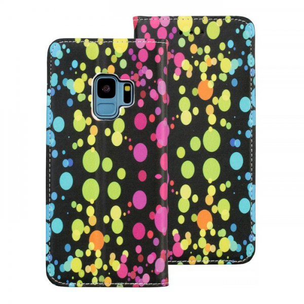 Torbica preklopna SAMSUNG GALAXY S9 dots - Decor book