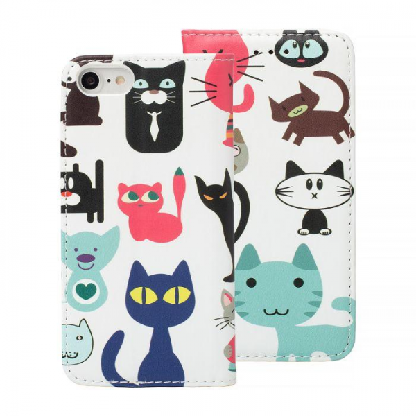 Torbica preklopna SAMSUNG S9 Plus cats - Decor book