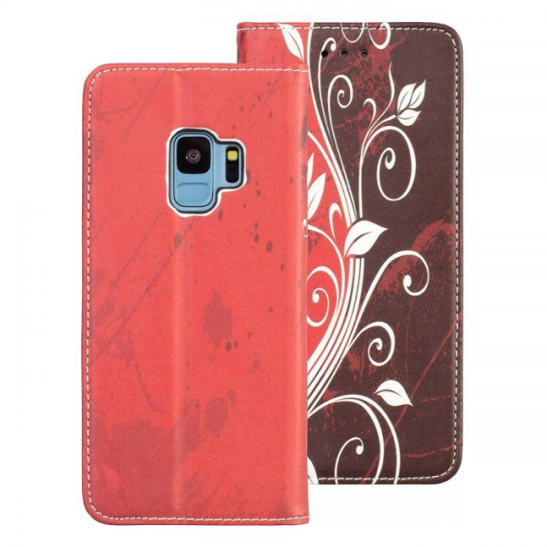 Torbica preklopna SAMSUNG S9 red - Decor book
