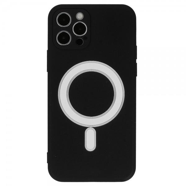 TEL PROTECT MagSafe maskica Iphone 12 - CRNA