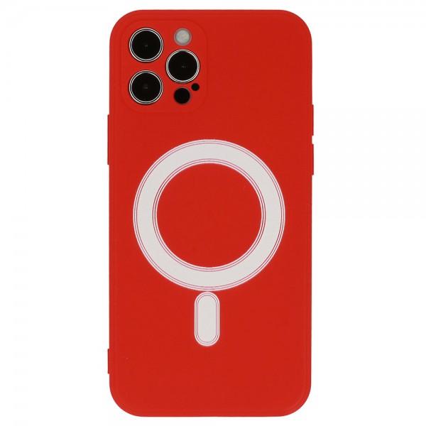 TEL PROTECT MagSafe maskica Iphone 12 - CRVENA
