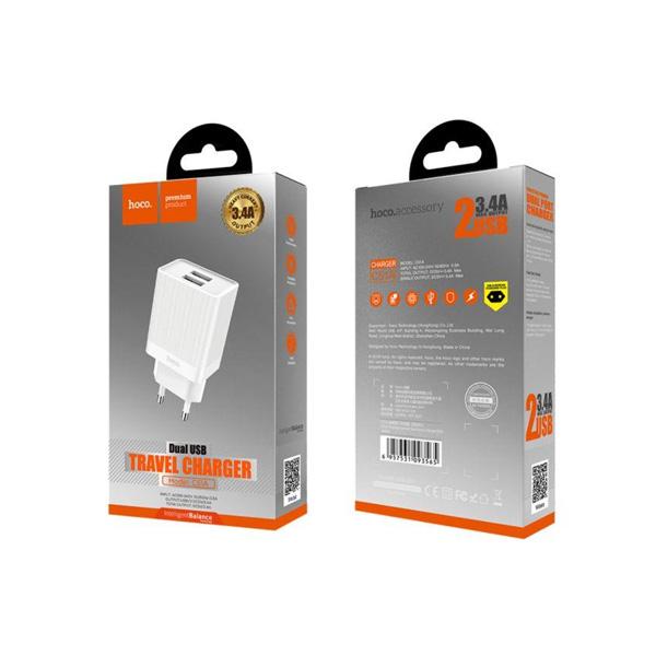HOCO adapter/punjač - 3.4A 2x USB plug C51A C11-Smart Mobilab, servis i prodaja mobitela, tableta i računala