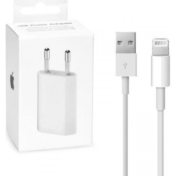 Original kućni adapter/punjač - Apple iPhone A1400 + USB kabel Lightning MD818 MB707ZM/B