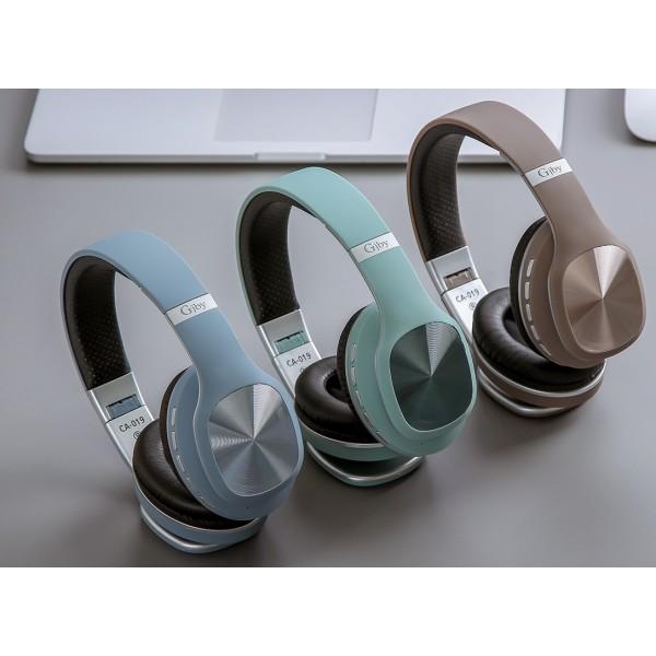 Slušalice bežične Bluetooth + microfon GJBY CA-019 - Smeđa