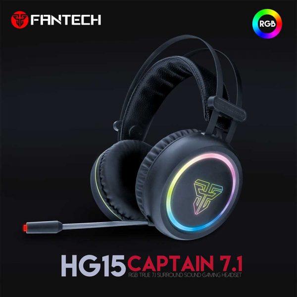 FANTECH SLUŠALICE ŽIČNE GAMING USB + MIKROFON CAPTAIN 7.1 HG15