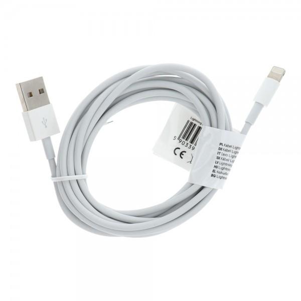 Original Kabel USB - APPLE MD819ZM/A iPhone 5/5c/5s/6/7/8/X/iPad Air 2m - BULK