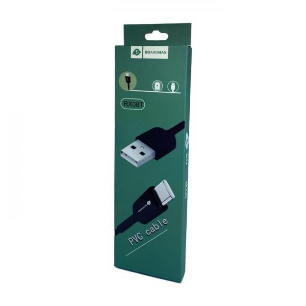 RO&MAN USB kabel - RX08T Type C USB 1M - Crni