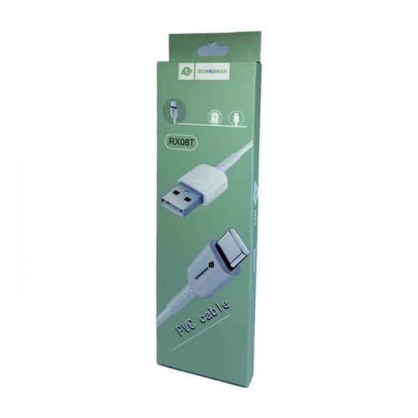 RO&MAN USB kabel - RX08T Type C USB 1M - Bijeli