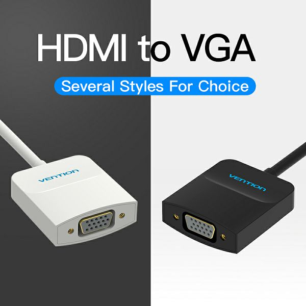 VENTION ADAPTER KONVERTER VGA ŽENSKI NA HDMI MUŠKI 0.15m ACFBB CRNI