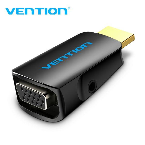 VENTION ADAPTER HDMI MUŠKI NA VGA ŽENSKI + AUDIO 3.5 mm ŽENSKI AIDB0 CRNI